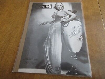 Vintage 1980s MARLENE DIETRICH Hollywood Magazine Pin Up Poster 8 x 11