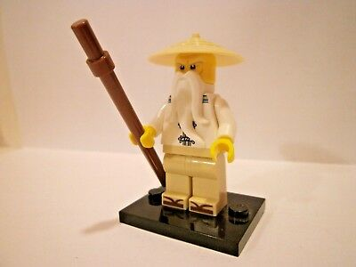 White Robe, /& Sandels 70608 The LEGO Ninjago Movie Minifigure Sensei Wu