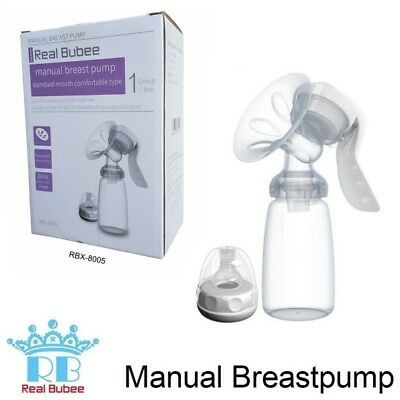 Real Bubee Manual Breast Pump 150ml Collection bottle & teat