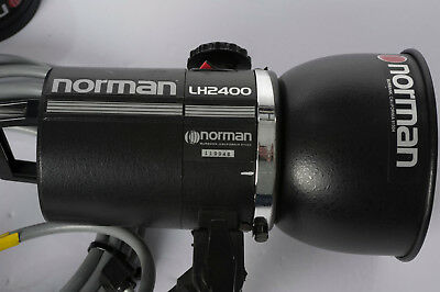 Norman flash head LH2400 with cooling fan ,reflector & cover.