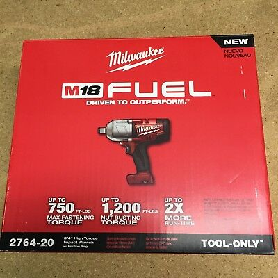 Milwaukee 2764-20 18 volt 3/4 Fuel Impact Wrench w/ ring BRAND NEW