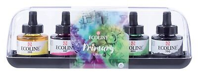 Talens Ecoline Liquid Watercolour Ink Primary Colours Set 5 x 30ml
