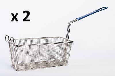 PACK OF 2 PITCO CHIP Fryers SPARE Basket 35C 45C SG14 SG18 Size 340Lx170Wx140Hmm