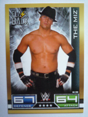 Slam Attax 10Th Edition The Miz Flash Back Card Comb P&p