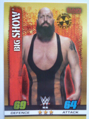 Slam Attax 10Th Edition Raw Big Show Base Card Comb P&p