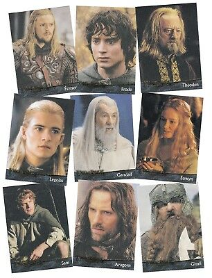 THE LORD OF THE RINGS - RETURN OF THE KING - A TOPPS 2002 1st SER TRADE CARD SET