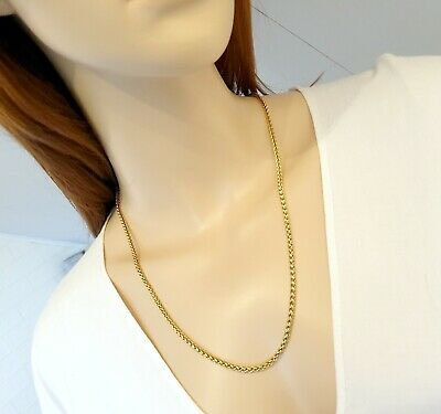 Source 24 inch 18ct Gold Cuban Curb Chain Necklace 2.5mm width