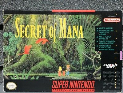 Secret of Mana SUPER Nintendo SNES Complete in Box +Official Guide | Ships Fast