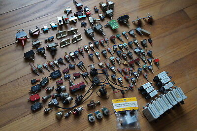 Huge lot  of Switches  Over 110 ,Rocker, Toggle, Micro, With some Breakers !!