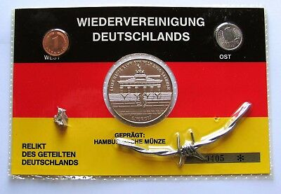 1990 Germany - Berlin Wall Souvenir Coin-Medal-Relic Set - Free Shipping!