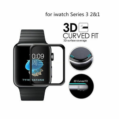 42mm For Apple Watch Premium Slim Tempered Glass Film Screen Protector FL