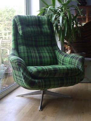Swivel egg chair retro vintage 70s lounge armchair 78 for 70s egg chair