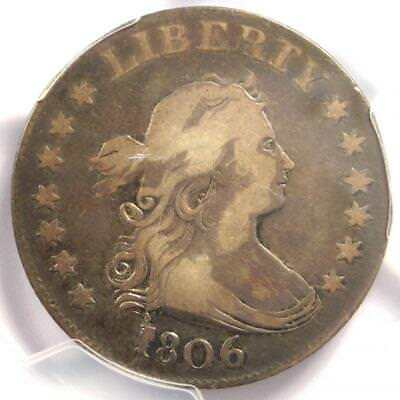 1806 Draped Bust Quarter 25C B-9 - Certified PCGS VF Details - Rare Coin!