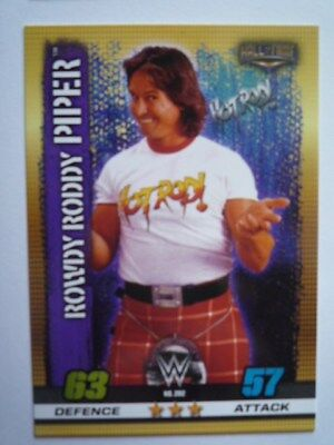 Slam Attax 10Th Edition Hall Of Fame Rowdy Roddy Piper Base Card Comb P&p