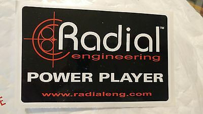 Radial  EFFECT PEDAL  BUMPER OR GUITAR CASE STICKER free USA SHIPPING