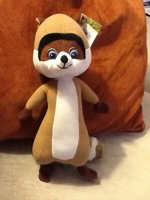 """Dreamworks Over The Hedge """"RJ"""" the raccoon toy good condition With Tag"""