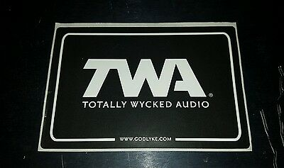 TWA TOTALLY WICKED AUDIO EFFECT PEDAL BUMPER guitar CASE STICKER free USA SHIP