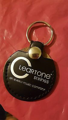CLEARTONE STRING co. LEATHER PICK HOLDER KEYCHAIN NEW GREAT GIFT FREE US S&H
