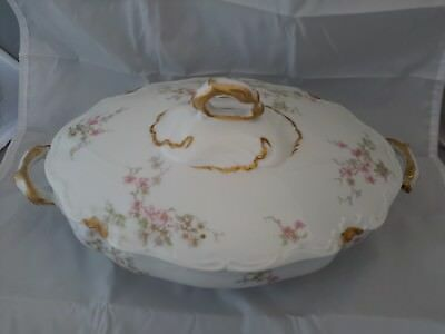 Limoges Charles Ahrenfeldt Oval Covered Vegetable Bowl With Lid