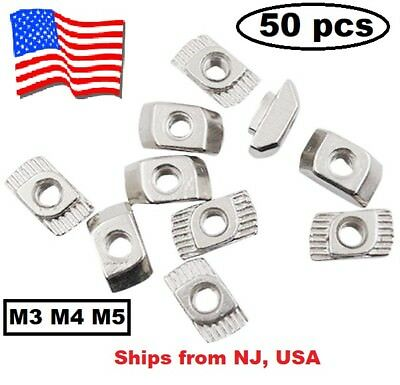 M3 M4 M5 T-nuts T-Slot Nuts Type for 2020 European Aluminum Extrusion US SELLER