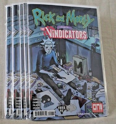 Rick and Morty Vindicators #1 NM Fried Pie Variant 1st Pickle Rick In Hand