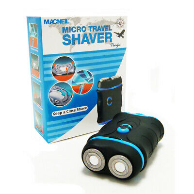 Macneil MCNBA737/P Mens Battery Operated Micro Travel Holiday Shaver - NEW