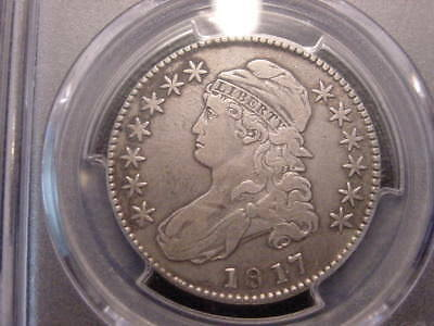 1817 Pcgs Cert Det Vf Punctuated Date Capped Bust Half Dollar