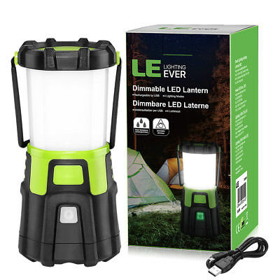 LE 1200LM USB Rechargeable LED Camping Lantern,Dimmable Work Light Flashlight