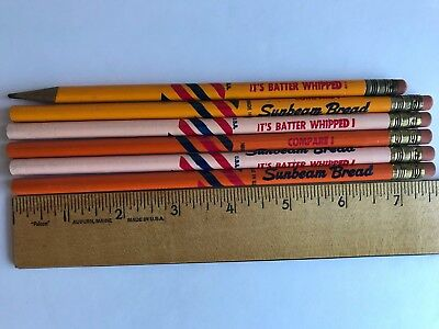 Lot of 9 Vintage 1950s BUTTERNUT and SUNBEAM BREAD Advertising Pencils