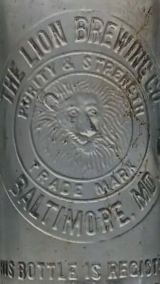 The Lion Brewing Co. Baltimore Maryland loopseal beer bottle