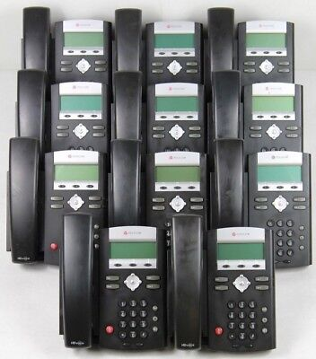 Lot of 11 Polycom SoundPoint IP 335 VoIP Office Phones