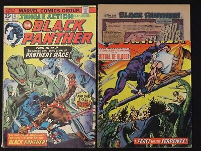 Marvel Comics Jungle Action The Black Panther #16, 17 1975 Lot of 2