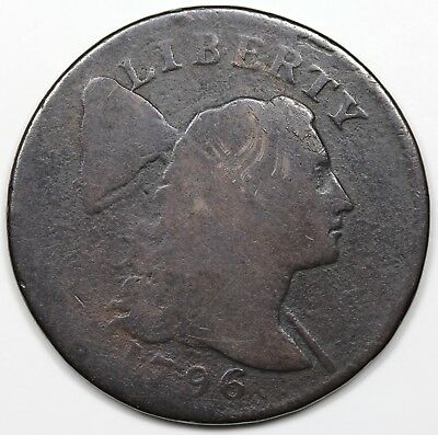 1796 Liberty Cap Large Cent, AG-G