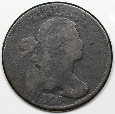 1803 Draped Bust Large Cent, scarce Large Date & Fraction, G+ detail
