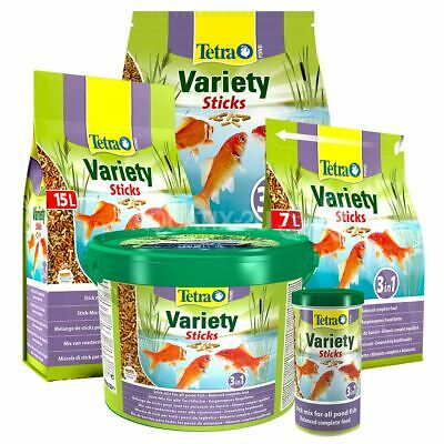 Tetra Pond Variety Sticks Floating Koi Fish Food Daily Diet 1L 4L 7L 10L 15L 25L