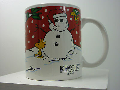 Galerie Peanuts Snoopy/Woodstock Christmas Winter Scene Coffee/Beverage Mugs