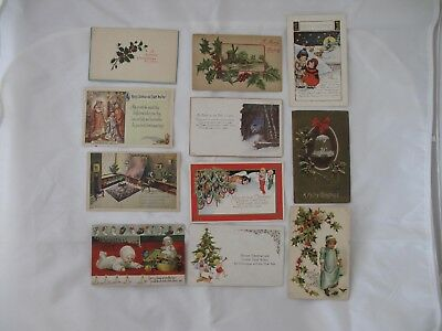 Lot of 22 Vintage Post Cards - Christmas, Thanksgiving, New Years & Valentine