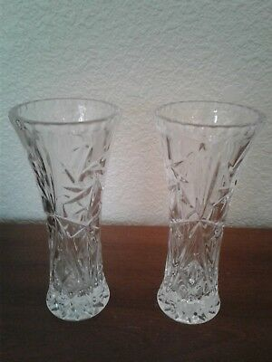 BEAUTIFUL Pair of WATERFORD CUT CRYSTAL GLASS VASE