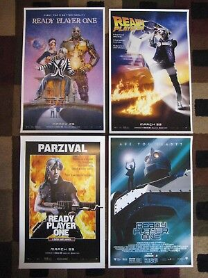 """Ready Player One ( 11"""" x 17"""" ) Movie Collector's - Poster  Prints (  Set of 4 )"""