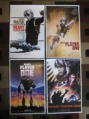 """Ready Player One ( 11"""" x 17"""" ) Movie Collector's Poster Prints - (  Set of 4 )"""
