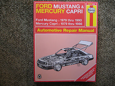 New haynes repair manual ford mustang 1979 to 1993 mercury capri new haynes repair manual ford mustang 1979 to 1993 mercury capri 1979 thru 1986 fandeluxe Images