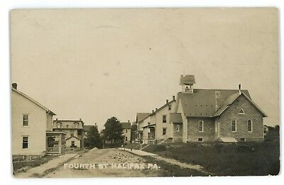 RPPC 4th Street HALIFAX PA Dauphin County Baum Pennsylvania Real Photo Postcard