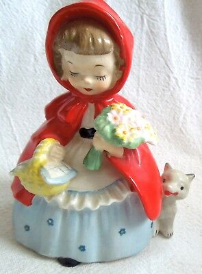 1956 Napco LITTLE RED RIDING HOOD S1492P *Silver Sticker* FREE SHIPPING