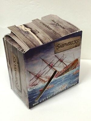 EMPTY USED Box Shipwrecks 100 x $1 Stamps Australia Post Collectors Memorabilia