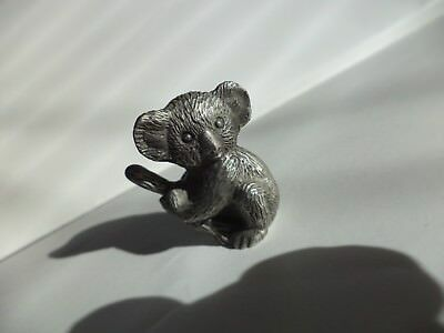 "Detailed 1 1/4"" Bea Line Pewter Baby Koala Bear In Branch Miniature Figurine"