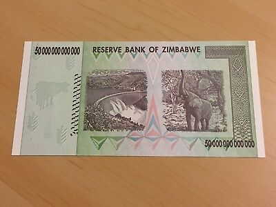 MAKE OFFER ~ 1 Zimbabwe 50 Trillion Dollars($) AA 2008 AUNC~LIMITED TIME OFFER
