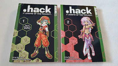 .hack//LEGEND OF THE TWILIGHT volume 1 and 2 set Manga *ENGLISH*