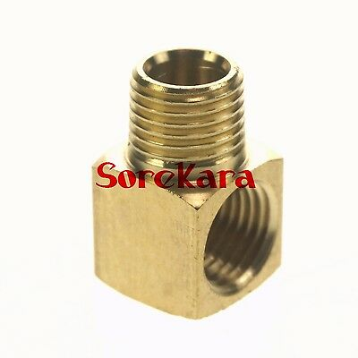 5pcs Male to female Thread Elbow Brass Adapter Fitting Connector For Lube Tubing