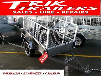 6x4 Heavy Duty  box trailer and cage