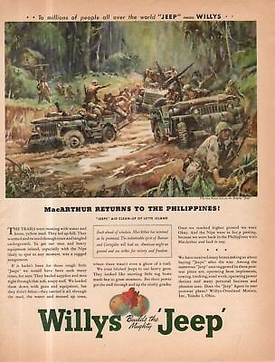 1945 Original Willys Jeep ad - MacArthur Returns to the Philippines! - Sessions